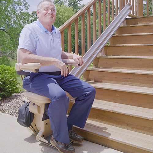 Outdoor Stair Lifts in Roselle
