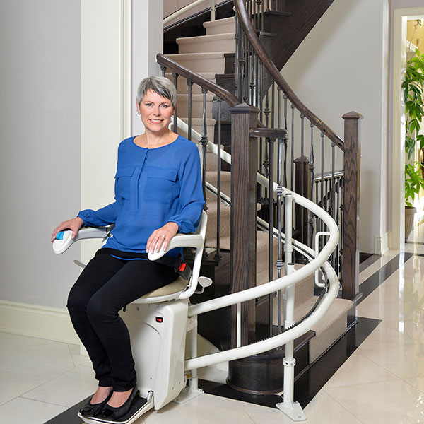 Curved Stair Lift in Naperville, IL