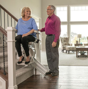 Curved Stair Lift for Sheboygan homeowners