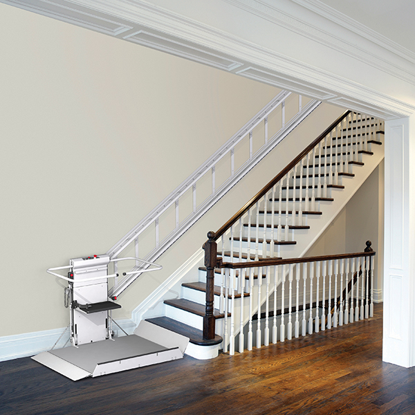 Straight stair lift by Savaria