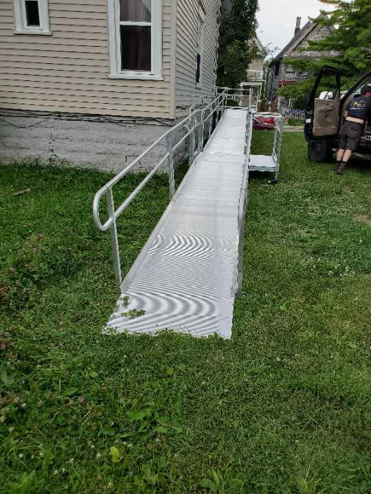 wheelchair ramp installed in MIlwaukee