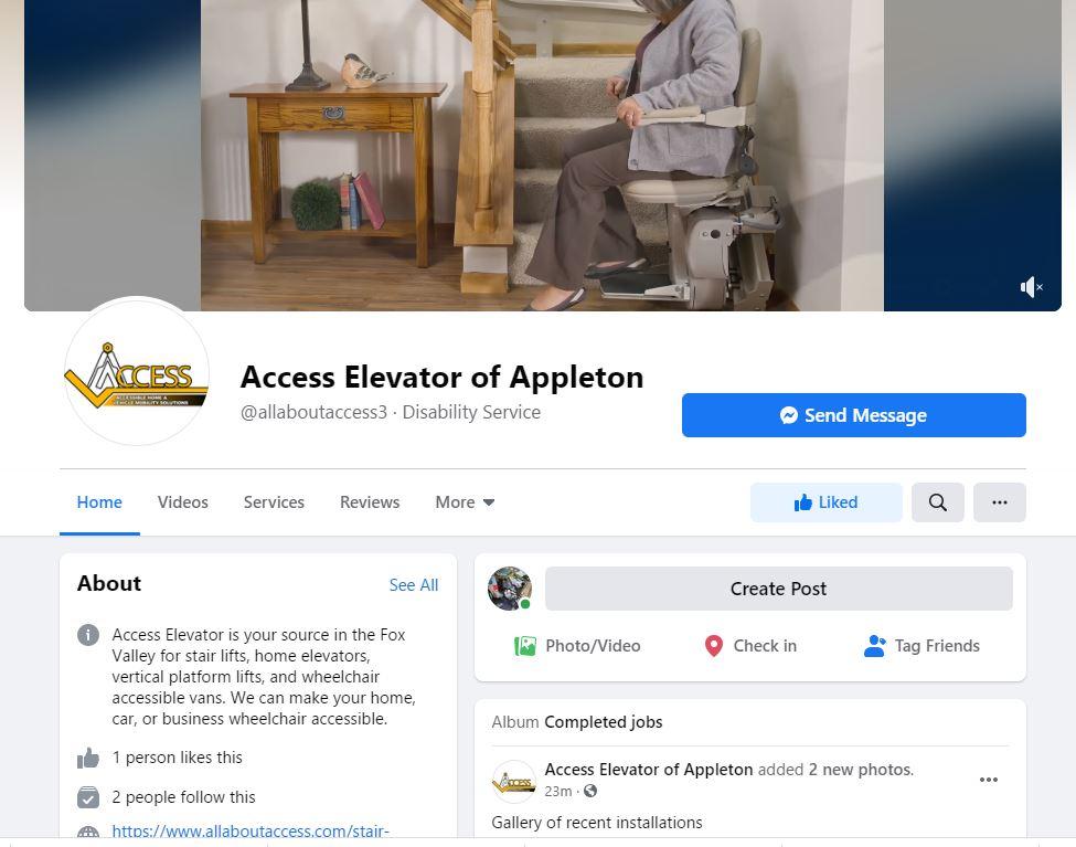 Access Elevator of Appleton
