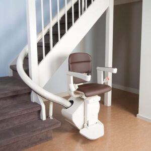 Curved Stairlift in Milwaukee and Appleton